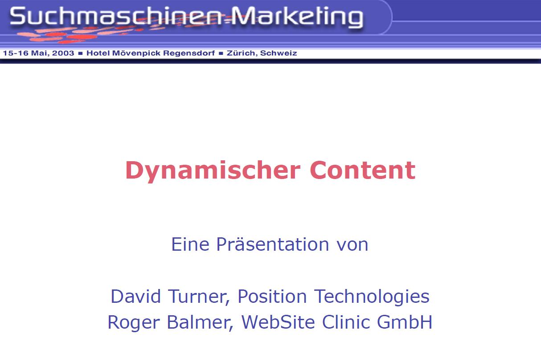 """Roger Balmer hält eine Präsentation zum Thema """"Dynamischer Content"""" am Suchmaschinenmarketing.Com Kongress in Zürich 2003"""